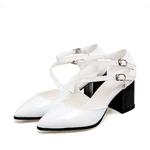 Femme Blanc Compensées Sandales BalaMasa ASL05352 0xHwTBqBg