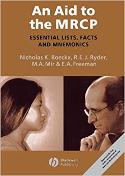 Book An Aid to the MRCP: Essential Lists, Facts and Mnemonics