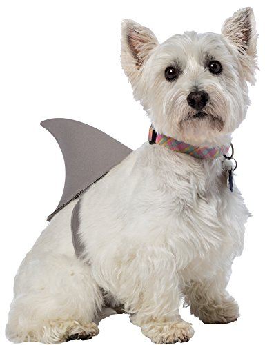 Dog Shark Costume Fin (UHC Shark Fin Dog Outfit Funny Theme Puppy Halloween Pet Costume, S)