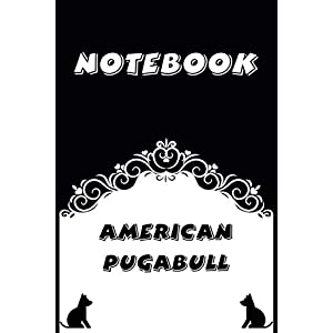 American Pugabull Notebook : Black and White notebook , Decorative Journal for American Pugabull Lover: Notebook /Journal Gift,Black and White,100 pages, 6x9, Soft cover, Mate Finish 8