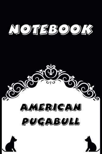American Pugabull Notebook : Black and White notebook , Decorative Journal for American Pugabull Lover: Notebook /Journal Gift,Black and White,100 pages, 6x9, Soft cover, Mate Finish 1