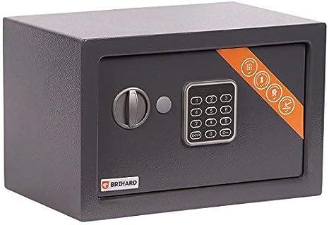 Brihard Home Titanium Grey caja fuerte con cerradura electrónica (20x31x20cm (HxWxD)): Amazon.es: Bricolaje y herramientas