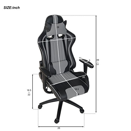 41eBtD YtuL - ModernLuxe-Odyssey-Series-Executive-Gaming-Chair-with-Adjustable-Lumbar-Support-and-Headrest-in-Soft-PU-Leather-and-Mesh-Fabric