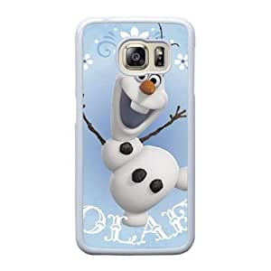 Grouden R Create and Design Phone Case,Snowman Olaf Cell Phone Case for Samsung Galaxy S6 Edge White + 1*Touch Stylus Pen (Free) GHL-2868762