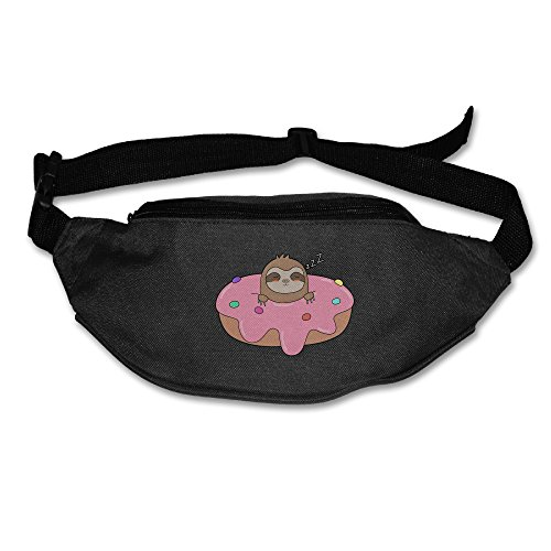 Yahui Cute Donut Sloth Waist Bag Fanny Pack / Hip Pack Bum Bag For Man Women Sports Travel Running Hiking / Money IPhone 6 / 7 6S / 7S Plus Samsung S5/S6