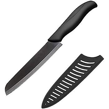 Amazon.com: Serrado, Cuchillo Santoku, asas de goma ...