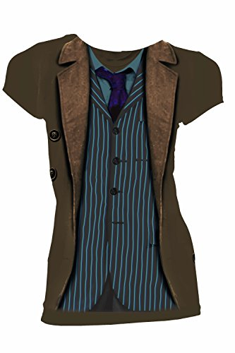 Donna Doctor Who Costume (Doctor Who David Tennant 10th Doctor Costume Sound of Drums Juniors T-Shirt (Small))