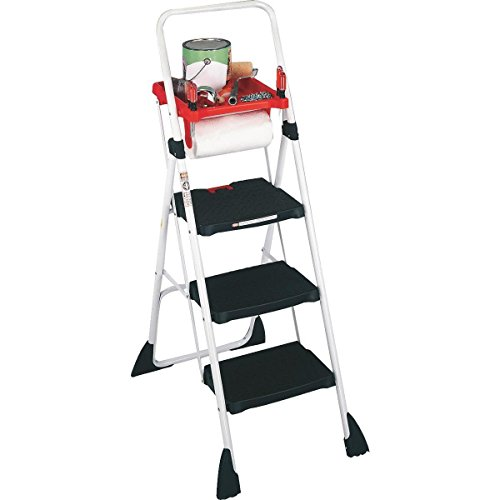 Cosco 3-Step Work Platform Steel Framed Stool & Ladder by eXXtra Store