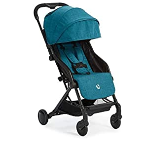 Contours-Bitsy-Compact-Fold-Lightweight-Stroller-for-Travel-Airplane-Friendly-Adapter-Free-Car-Seat-Compatibility-Bermuda-Teal