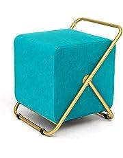 Moderne Vierkante Ottomaanse, Bekleed Velvet Ottomaanse Met Gouden Benen Metal Base Voor Foot Rest Kruk Seat in De Woonkamer Slaapkamer Gang Entryway