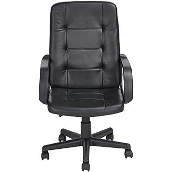 Homycasa Office High Back Leather Office Chair Desk Computer Chair, Black 2