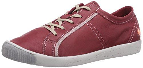 Softinos Irina leather combi Damen Derby Schnürhalbschuhe Rot (red/pink 543)