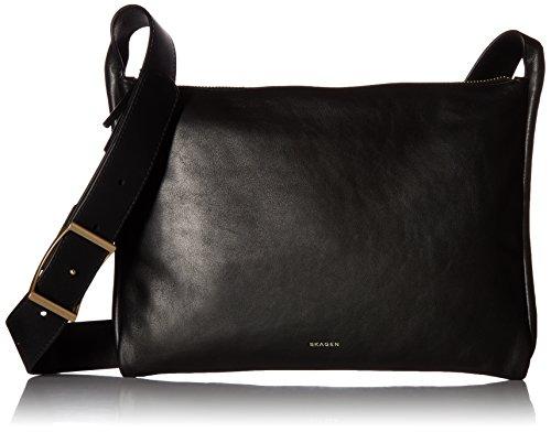 Skagen Anesa Leather Slim Crossbody, Black