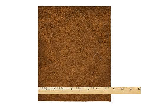 Realeather Leather Suede Trim, Medium Brown