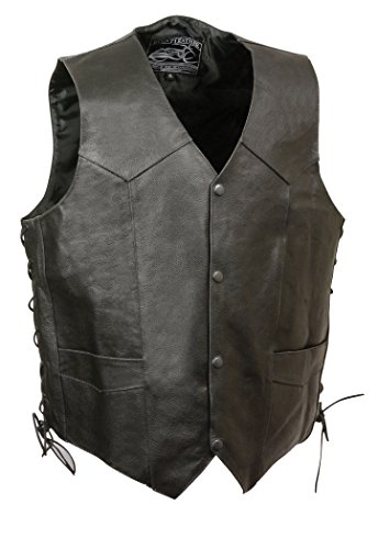 Event Leather Men's Indian Head Vest (Black, ()