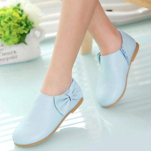 Hunpta Kleinkind Baby Mädchen Kinder Mode Bowknot Sneaker Stiefel Reißverschluss Freizeitschuhe Blau