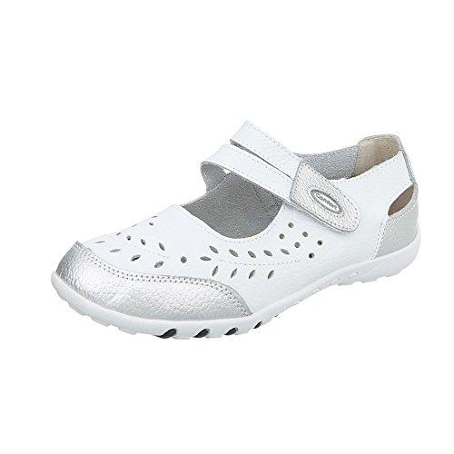 Women's Court Shoes Wedge Heel Wedges at Ital-Design Weiß Silber 5003 oBE8WZ2xiw