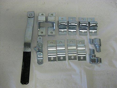 Cargo Trailer Ramp Rear Side Door Zinc Bar Lock Latch Assembly