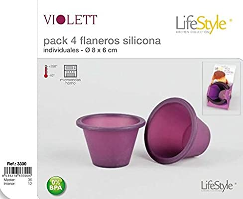 Lifetyle-Molde flanero silicona x4 unidades: Amazon.es: Hogar