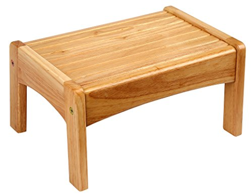 Oak Step Stool - Wildkin Slatted Step Stool, Step Stool Features Slatted Design to Prevent Slipping, Compliments Any Home Décor, Perfect for Giving Kids and Adults a Boost - Oak