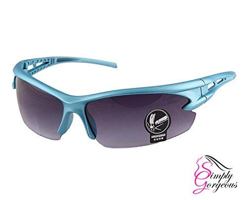 Cyclisme Sports de Lunettes Bleu Equitation plein air Noir Lunettes protection de UV Caq7Cw