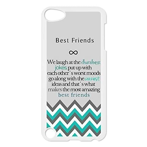 Design For You The Meaning For Best Friends Pattern Hard Soft Silicone Back Case Cover Fit for iPhone 5 (Nokia 6233 Case)