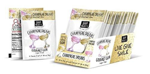 Gum Bear - Project 7 Sugar Free Gum, Champagne Dreams, 12 Pouches, 144 Pieces Total