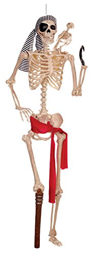 Crazy Bonez Pirate Pose-N-Stay Skeleton -