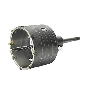 S&R Fresa / Sega a Tazza per Muro Cemento Ø 82mm Corona Carotatrice a Secco + Adattatore SDS PLUS + Punta Centraggio… 1 spesavip