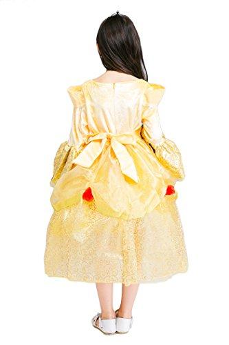 Dal Halloween Giallo Vestito Di Ragazze Vestito Grandi Dorato Lunghe Cosplay Yming Costume Maniche wqAzFIz