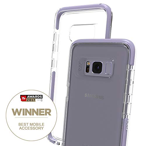 (Gear4 Piccadilly Clear Case with Advanced Impact Protection [ Protected by D3O ], Slim, Tough Design for Samsung Galaxy S8 – Orchid Grey)
