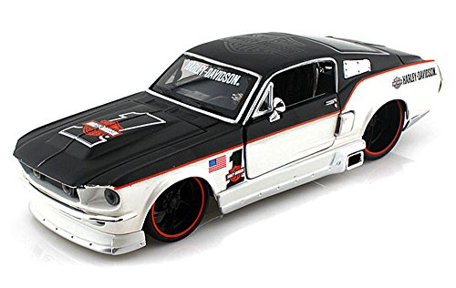 1967-ford-mustang-gt-harley-davidson-1-black-pearl-white-maisto-hd-32168-1-24-scale-diecast-model-to