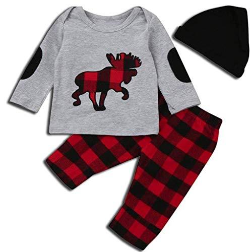 Toddler Kids Baby Boys Outfits Deer Animal Print