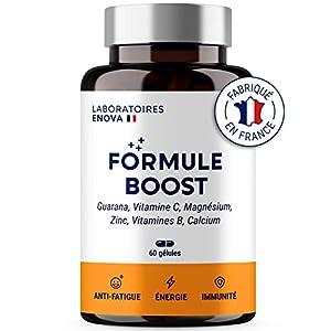 FORMULE BOOST | Multivitamines et Minéraux + Guarana, Vitamine B, C, Calcium Magnesium Zinc, Guarana | Complément…
