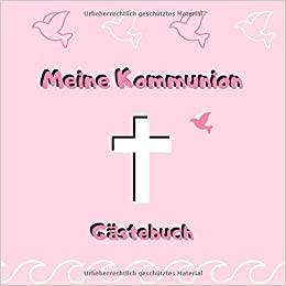 Meine Kommunion Gästebuch Erinnerungsbuch Zum Eintragen