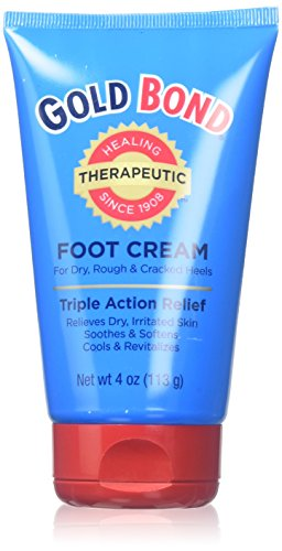 Gold Bond Triple Action Foot Cream, Net wt 4oz, (6 Count)