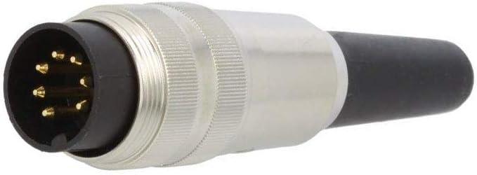 Soldadura Macho Enchufe SV60 conector M16 para Cable PIN6 250V IP40 Lumberg