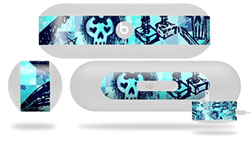 Scene Kid Sketches Blue Decal Style Skin - fits Beats Pill Plus (BEATS PILL NOT INCLUDED) by WraptorSkinz