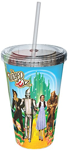 ICUP Wizard of Oz Yellow Brick Road Plastic Cup w/ Straw