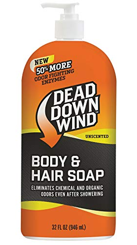 (Dead Down Wind Body & Hair Soap 32 oz Pump Top - Unscented - Hunting Scent Eliminators)