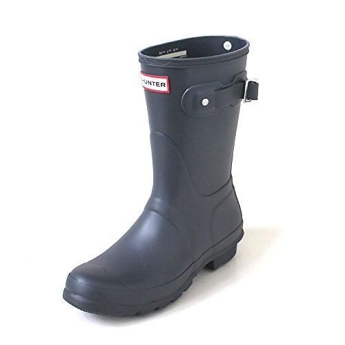 Hunter Womens Original Short Dark Slate Rain Boot - 10 B(M) - Slate Dark