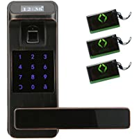 HARFO HL91 Fingerprint Touchscreen Keyless Door Lock with OLED Display, Perfect for Office & Home (Aged Bronze)