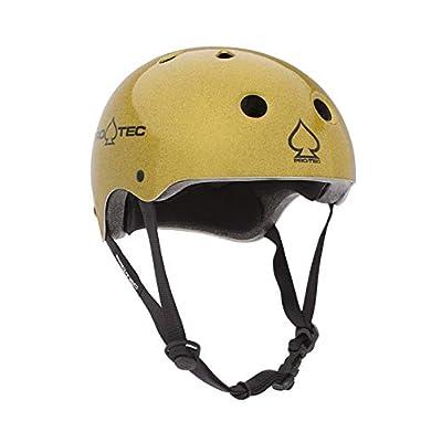 Pro-Tec Classic Skate Flake Helmet Gold L : Sports & Outdoors