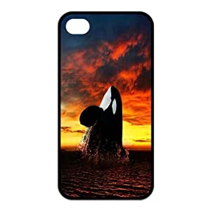 lintao diy Cute Whale 100%TPU cover for iPhone4 iPhone4S Case