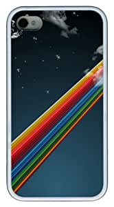 iPhone 4S Cases Rainbow In The Sky TPU Soft Back Case Cover for iPhone 4S and iPhone 4 - White