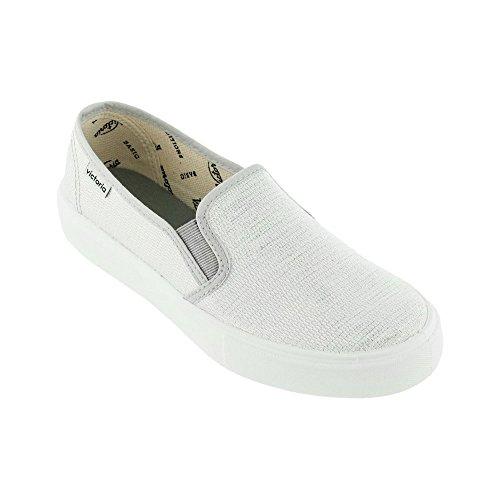 Zapatillas Victoria 25065 - Slip-on Lurex plateado