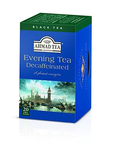 Ahmad Tea Decaffeinated Evening Tea, 20-Count Boxes (Pack of 6) - English Evening Tea