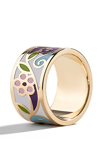 Women Rings Wide Band Ring Flower Jewelry Fashion Custome Accessories Girls Bands (alloy, lavender, nlue, pink, 9)