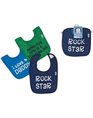 Gerber 3pk Terry Bibs with Cute Sayings (Boy)