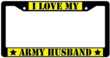 Heavy Duty License Plate Cover for Front or Back License Tag AllCustom4U Humor Funny License Plate Frame Stainless Steel Car Plate Frame